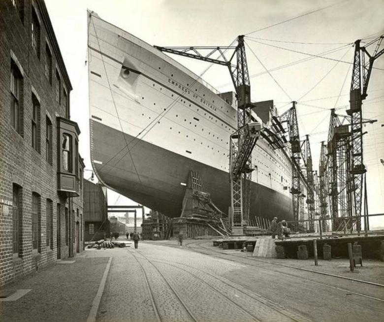 Empress Of Britain John Brown Shipbuilders Clydebank C1930